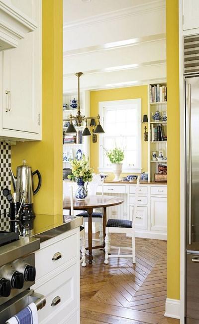 color a las paredes de la cocina