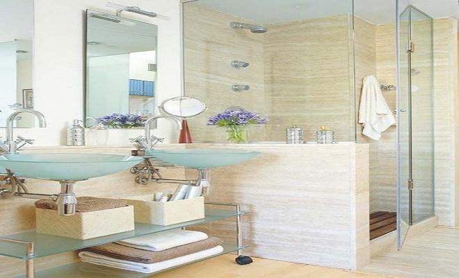 limpiar los accesorios de baño. 0