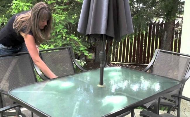 limpiar los muebles de exteriores