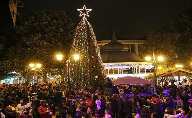 árbol de navidad en los Ríos